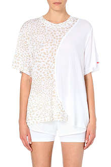 ADIDAS BY STELLA MCCARTNEY Leopard-print jersey t-shirt