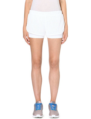 ADIDAS BY STELLA MCCARTNEY Layered mesh shorts
