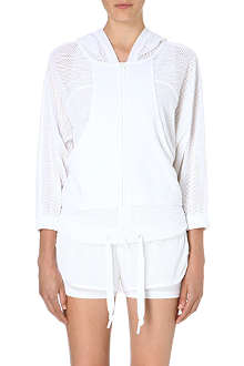 ADIDAS BY STELLA MCCARTNEY Mesh-panelled hoody