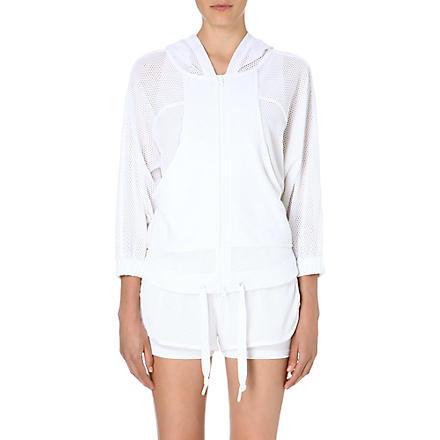 ADIDAS BY STELLA MCCARTNEY Mesh-panelled hoody (White
