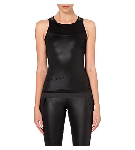 ADIDAS BY STELLA MCCARTNEY Run Performance stretch-jersey vest (Black