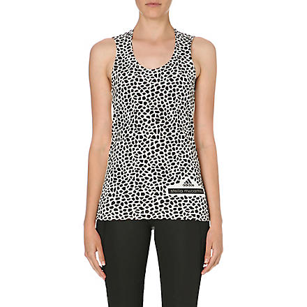 ADIDAS BY STELLA MCCARTNEY Graphic vest top (Frost