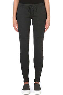 Y3 Hane ruched cotton-jersey leggings