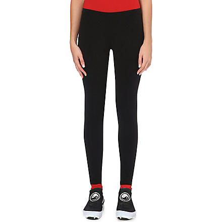 Y3 Reversible cotton-jersey leggings (Black