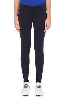Y3 Reversible cotton-jersey leggings