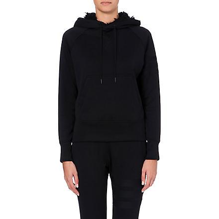 Y3 Faux-fur lined hoody (Black