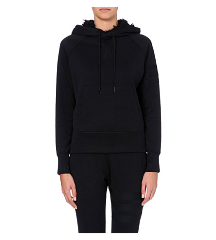 Y3 Faux-fur lined hoody (Black