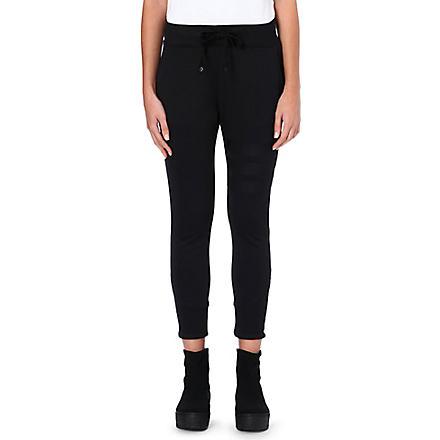 Y3 Three-stripe jersey jogging bottoms (Black