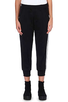 Y3 Three-stripe cropped jogging bottoms