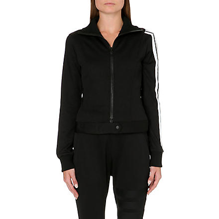 Y3 Three-stripe jersey jacket (Black