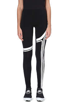 Y3 Three-stripe jersey leggings