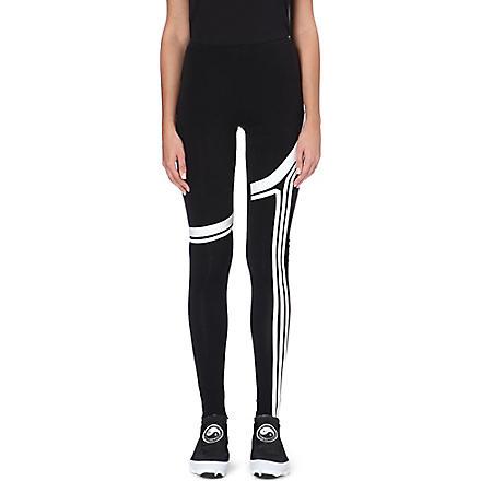 Y3 Three-stripe jersey leggings (Black