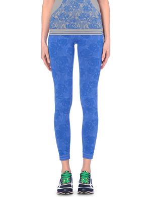 ADIDAS BY STELLA MCCARTNEY Floral-print seamless leggings