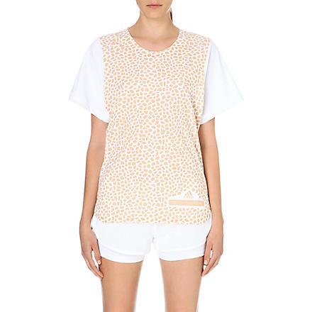 ADIDAS BY STELLA MCCARTNEY Run Mosaic t-shirt (White/soft powder