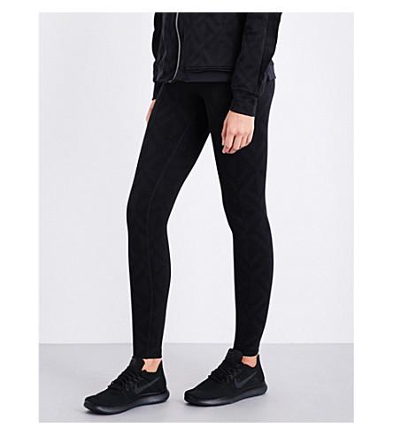 KORAL Drive skinny high-rise neoprene leggings (Balck+geo