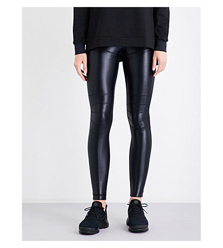 KORAL Core Moto stretch-jersey leggings (Black