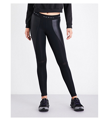 KORAL Slit jersey leggings (Black