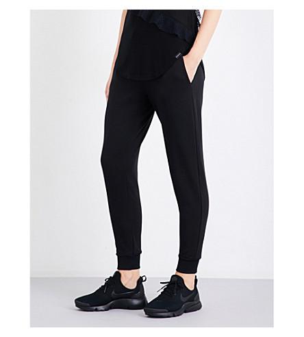 KORAL Station stretch-jersey jogging bottoms (Black