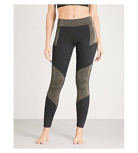 KORAL Versus jersey leggings (Black+w/gleam