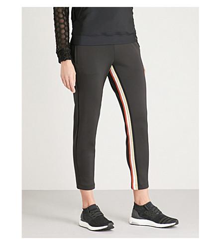 KORAL Elizabeth metallic-trimmed jogging bottoms (Black+/gold
