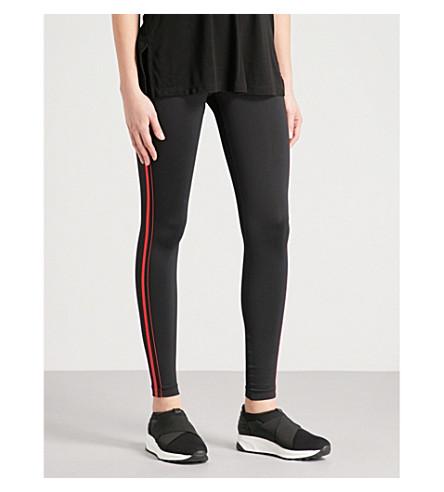 KORAL Tone stretch-jersey leggings (Black+w/scarlett