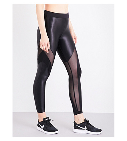 KORAL Frame stretch-jersey leggings (Black/black
