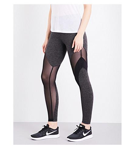 KORAL Frame stretch-jersey leggings (Dark+heath/black