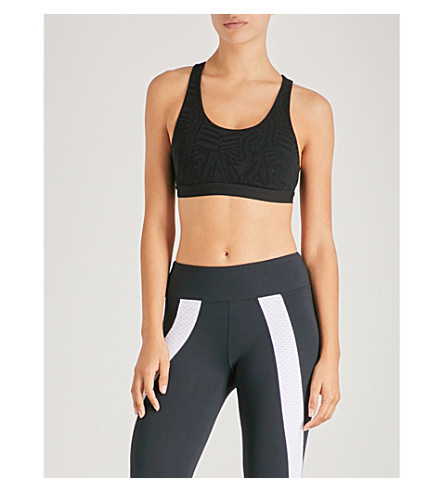KORAL Galaxy stretch sports bra (Bkgy