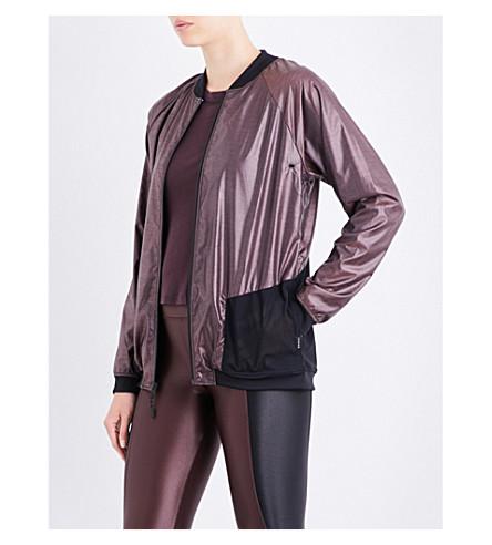 KORAL Wind shell bomber jacket (Bordeaux+heather
