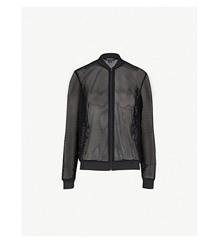 KORAL Base mesh bomber jacket (Black