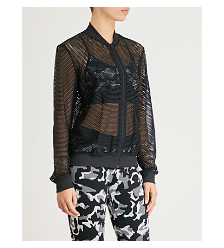 KORAL Base mesh bomber jacket (Black