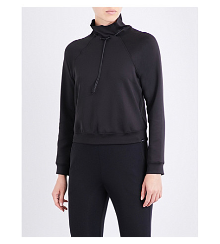 KORAL Order high-neck stretch-scuba sweatshirt (Black