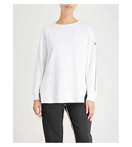 KORAL Bristol boat-neck jersey sweatshirt (White+w+black