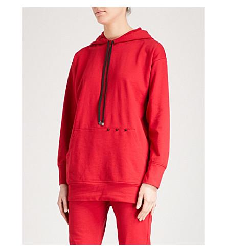 KORAL Poise stude-detail cotton-jersey hoody (Scarelett