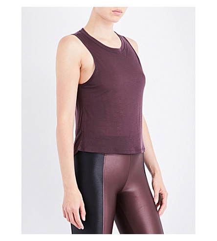 KORAL Muscle sleeveless jersey top (Bordeaux