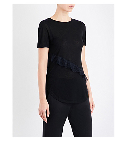 KORAL Threshold jersey top (Black