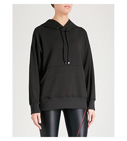 KORAL Spry logo-detail jersey hoody (Black