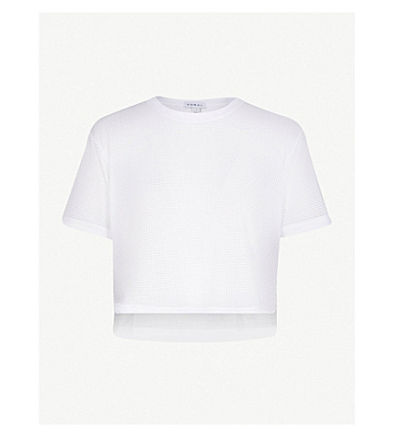 KORAL Cruppo asymmetric jersey T-shirt (White