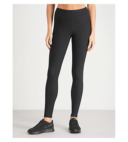 KORAL Drive jacquard leggings (Black