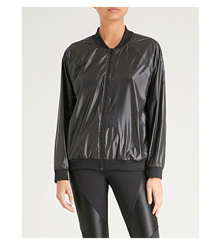 KORAL Dash shell bomber jacket (Black
