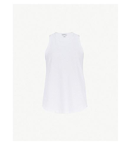 KORAL Aerate jersey tank top (White