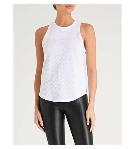KORAL Aerate jersey tank top (White