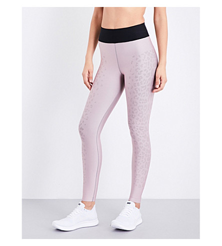 ULTRACOR High Luxe Hidden Leopard stretch-jersey leggings (Blush