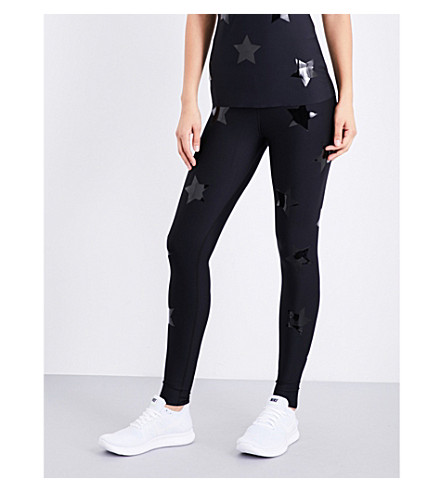 ULTRACOR High Luxe Knockout stretch-jersey leggings (Black/patent+black