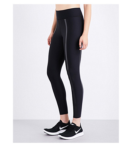 ULTRACOR High Lux Trail stretch-jersey leggings (Black/patent+black