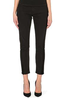 FRAME Le Garcon tuxedo-panel slim-fit mid-rise jeans