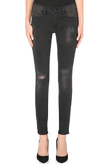 FRAME Le Skinny de Jeanne distressed skinny mid-rise jeans
