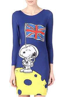RODNIK X PEANUTS Snoopy on Moon bodycon dress