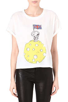 RODNIK X PEANUTS Snoopy on Cheese Moon t-shirt