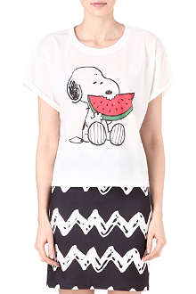 RODNIK X PEANUTS Snoopy Eating Watermelon t-shirt
